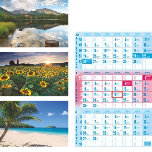 Kalendáre nástenné