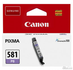 Canon originál ink CLI581 PB, photo blue, 5,6ml, 2107C001, Canon PIXMA TR7550,TR8550,TS6150,TS6151,TS8150,TS8151