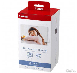 "Canon Color Ink Paper Set, KP108IN, foto papier, lesklý, biely, CP100, 220, 300, 330, 400, 500, 520, 600, 710, 10x15cm, 4x6"", 108"
