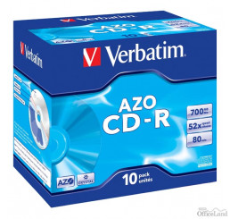 Verbatim CD-R, 43327, DataLife PLUS, 10-pack, 700MB, Super Azo, 52x, 80min., 12cm, Crystal, bez možnosti potlače, jewel box, Stand
