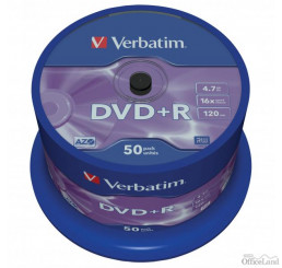 Verbatim DVD+R, 43550, DataLife PLUS, 50-pack, 4.7GB, 16x, 12cm, General, Advanced Azo+, cake box, Scratch Resistant, bez možnosti