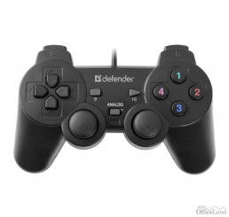 Gamepad Defender Omega, 12tl., USB, čierny, vibračné, Windows R XP/VISTA/7/8/10