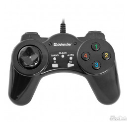 Gamepad Defender Vortex, 13tl., USB, čierny, vibračné, Windows 2000/XP/Vista/7/8/10
