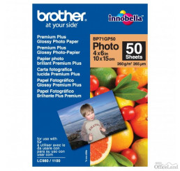 "Brother Premium Glossy Photo Paper, foto papier, lesklý, biely, 10x15cm, 4x6"", 260 g/m2, 50 ks, BP71GP50, atramentový"