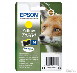 Epson originál ink C13T12844022, T1284, yellow, blister, 3,5ml, Epson Stylus S22, SX125, 420W, 425W, Stylus Office BX305