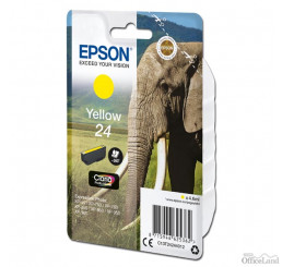Epson originál ink C13T24244012, T2424, yellow, 4,6ml, Epson