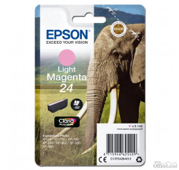 Epson originál ink C13T24264012, T2426, light magenta, 5,1ml, Epson