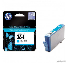 HP originál ink CB318EE, HP 364, cyan, blister, 300str., HP Photosmart B8550, C5380, D5460