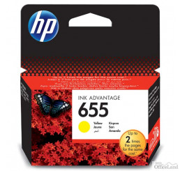 HP originál ink CZ112AE, HP 655, yellow, 600str., HP Deskjet Ink Advantage 3525, 5525, 6525, 4615 e-AiO