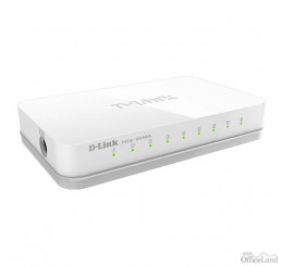 D-LINK stolový switch GO-SW-8E 100Mbps, plug-and-play