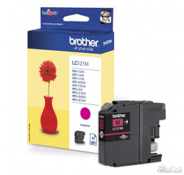 Brother originál ink LC-121M, magenta, 300str., Brother DCP-J552DW,  MFC-J470DW