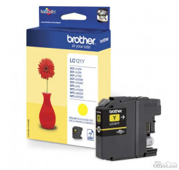 Brother originál ink LC-121Y, yellow, 300str., Brother DCP-J552DW,  MFC-J470DW