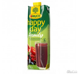 Džús Happy Day Family Multivitamín red fruit 1l