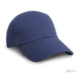 Result•HEAVY COTTON DRILL PRO STYLE CAP , NVY/PUT, ONE SIZE