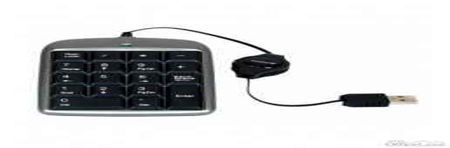 A4Tech TK-5, klávesnica CZ, numerická, vysúvací kábel typ drôtová (USB), čierno-strieborná