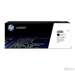 HP originál toner W2000X, black, 33000str., HP 658X, high capacity, HP Color LaserJet Enterprise M751 Series