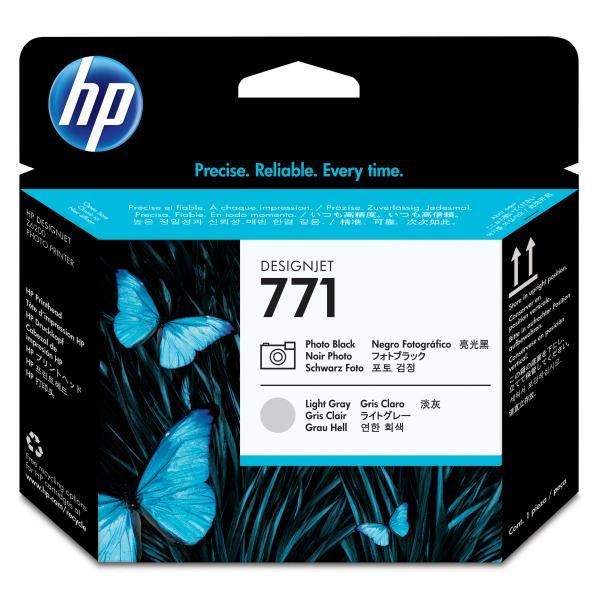 HP originál tlačová hlava CE020A, No.771, photo black/light grey, HP Designjet Z6200
