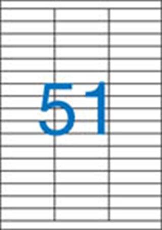Eikety, 3-radové, 70x16,9 mm, 5100 etik./bal