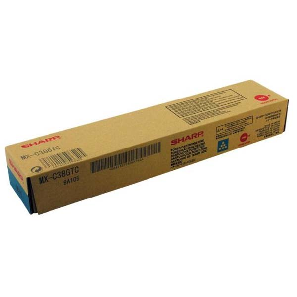 Sharp originál toner MX-C38GTC, cyan, 10000str., Sharp MXC 310, 311, 380, 381