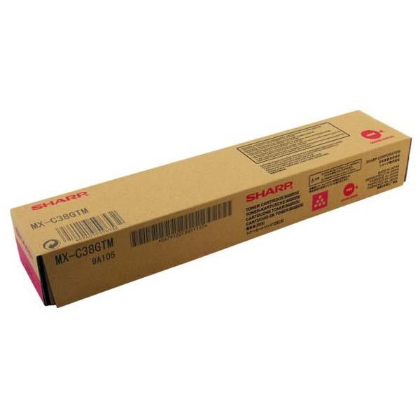 Sharp originál toner MX-C38GTM, magenta, 10000str., Sharp MXC 310, 311, 380, 381